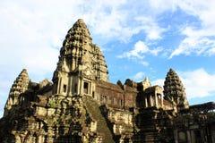 Angkor wat blauwe hemel royalty-vrije stock foto's