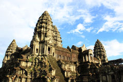 Angkor wat  blue sky Royalty Free Stock Photos