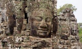 Angkor Wat Buddha faces Royalty Free Stock Images