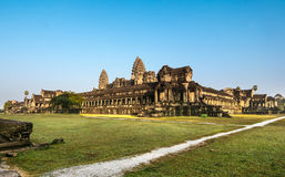 Angkor Wat, Buddhist temple complex in Cambodia Royalty Free Stock Images