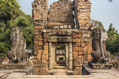 Angkor Wat Buddhist Temple stock image