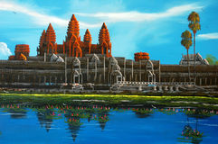 Angkor Wat Cambodge Illustration de Vecteur