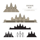 Angkor Wat, Cambodge Illustration Stock
