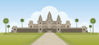 Angkor Wat, Cambodge Illustration de Vecteur