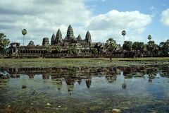 Angkor Wat - Cambodia. A breathtaking view of Angkor Wat, the biggest ruins of the world, in Cambodia Stock Image