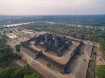 Angkor Wat (Cambodia). Angkor Wat aerial view (Cambodia Stock Photo