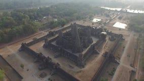 Angkor Wat (Cambodia). Angkor Wat aerial view (Siem Reap, Cambodia stock footage