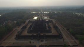 Angkor Wat (Cambodia). Angkor Wat aerial view (Siem Reap, Cambodia stock video