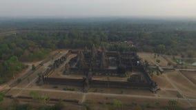 Angkor Wat (Cambodia). Angkor Wat aerial view (Siem Reap, Cambodia stock video footage
