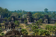 Angkor Wat. Cambodia. Ancient architecture. Royalty Free Stock Images