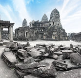 Angkor Wat Cambodia. Angkor Thom khmer temple Stock Photo