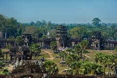 Angkor Wat cambodia Architettura antica immagini stock libere da diritti