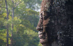 Angkor Wat Cambodia. Bayon temple in Angkor Thom Stock Photos