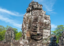 Angkor Wat Cambodia. Bayon temple in Angkor Thom Stock Photography