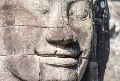 Angkor Wat Cambodia. Bayon temple in Angkor Thom site Stock Photography