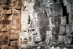Angkor Wat Cambodia. Bayon temple in Angkor Thom site Stock Photos