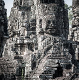 Angkor Wat Cambodia. Bayon temple in Angkor Thom site Royalty Free Stock Photography