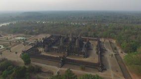 Angkor Wat (Cambodia). Angkor Wat bird eye view (Siem Reap, Cambodia stock footage