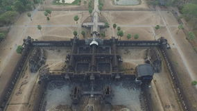 Angkor Wat (Cambodia). Angkor Wat bird eye view (Siem Reap, Cambodia stock video footage