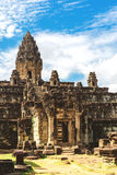 Angkor Wat, Cambodia - December 6, 2016: Galleries and tourists Royalty Free Stock Photos