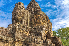 Angkor Wat, Cambodia - December 6, 2016: Galleries and tourists Stock Images