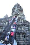 Angkor Wat, Cambodia. Filmed in The Angkor Wat in Kampuchea Royalty Free Stock Photography