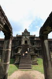 Angkor Wat, Cambodia. The great castle palace in Siemriep city, Cambodia Royalty Free Stock Image