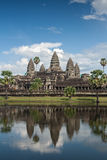 Angkor Wat, Cambodia. Refection in pond of Angkor Wat with blue sky Stock Image