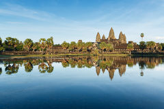 Angkor Wat, Cambodia. Angkor Wat reflection in late afternoon in Siem Reap, Cambodia Royalty Free Stock Photos