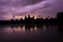 Angkor Wat. Silhouette of Angkor Wat in the sunrise, Cambodia royalty free stock photo