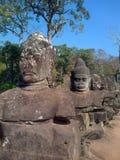Angkor Wat, Cambodia. Stone figures at Angkor Wat, Cambodia Royalty Free Stock Photos