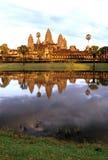 Angkor Wat, Cambodia at sunrise Stock Images