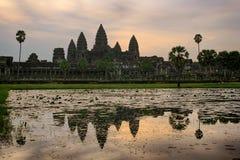 Angkor Wat Cambodia sunrise Royalty Free Stock Image