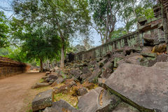 Angkor Wat Cambodia. Ta Prohm Khmer ancient Buddhist temple. Royalty Free Stock Images