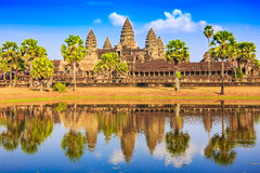 Angkor Wat, Cambodia. View from across the lake royalty free stock photos