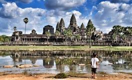 Angkor Wat Cambogia fotografie stock libere da diritti