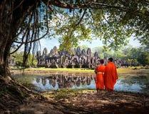 Angkor Wat Cambogia Immagine Stock Libera da Diritti