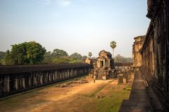 Angkor Wat in Cambogia Fotografie Stock Libere da Diritti
