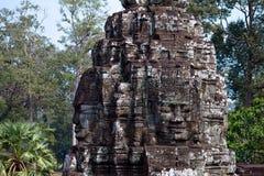 Angkor Wat, cara do templo imagens de stock royalty free