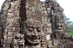 Angkor Wat, cara do templo imagens de stock