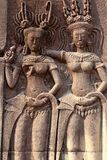 Angkor Wat carvings Fotografering för Bildbyråer