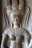 Angkor Wat carvings Royaltyfri Fotografi