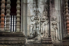Angkor Wat Carvings Stock Image