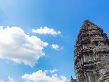 Angkor Wat castle, Cambodia,ancient temple ruin city.  Royalty Free Stock Photo