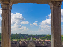Angkor Wat castle, Cambodia,ancient temple ruin city.  Stock Photo