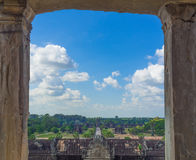 Angkor Wat castle, Cambodia,ancient temple ruin city.  Stock Photography
