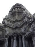 Angkor Wat castle, Cambodia,ancient temple ruin city isolated on white background clipping path.  Royalty Free Stock Images