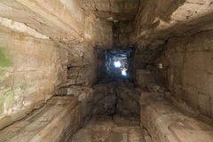 Angkor Wat ceiling. Look up to Angkor Wat ceiling Royalty Free Stock Photography