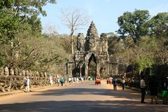 Angkor Wat complex temples statues Stock Image