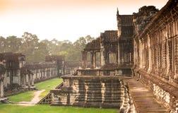 Angkor Wat courtyard- morning light Royalty Free Stock Photography